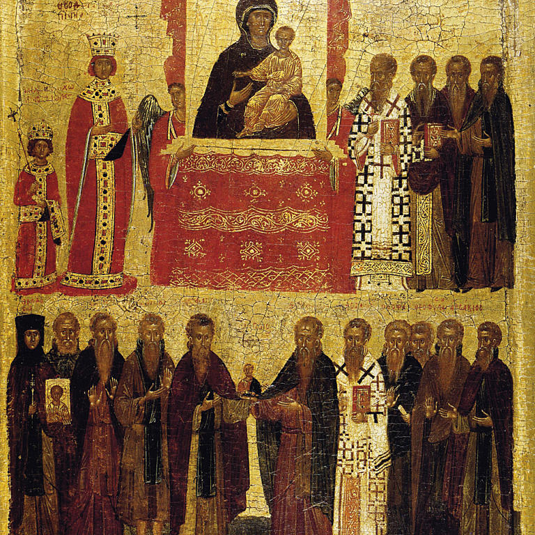 Icon of the Triumph of Orthodoxy. Konstantinopel, ca. 1400. Foto: British Museum