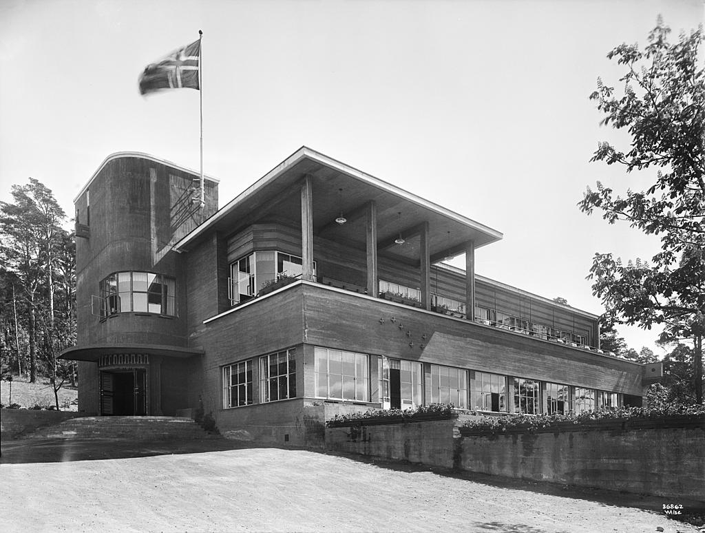 Ekebergrestauranten. Arkitekt Lars Backer, 1929. Bildet er tatt av Anders Beer Wilse, 1931. Foto: Anders Beer Wilse/ Oslo byarkiv