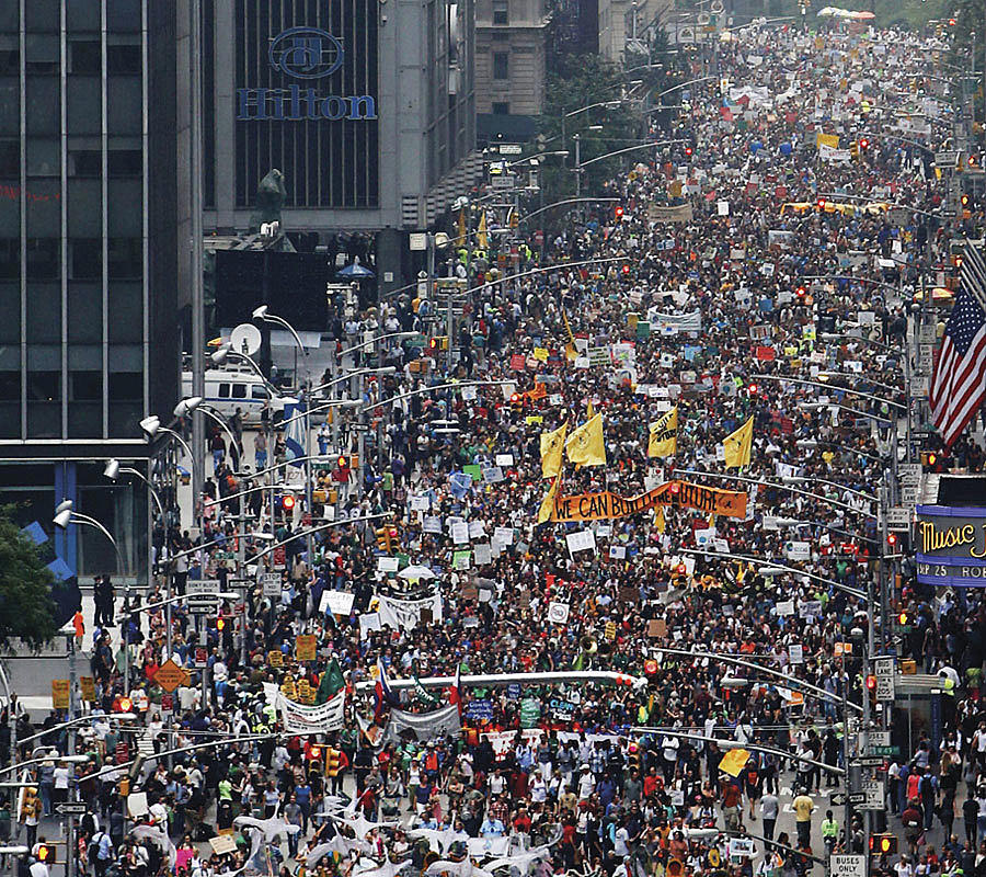 Climate March, New York, september 2014.  Foto:  avaaz.org